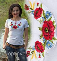 Національна футболка маки біла  42-52 рр