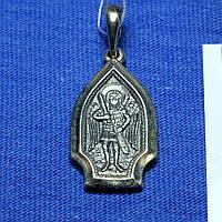 Ладанка из серебра для мужчины Архангел Михаил Л-11