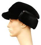 Мужская черная норковая шапка конфедератка, фото 3