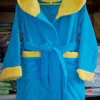 Детский махровый халат ,100% хб ; 2-4 года