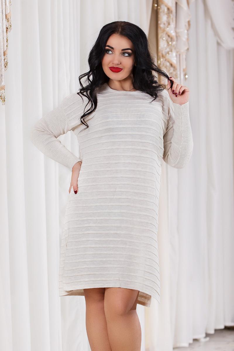 Д4702 Платье вязанное размер 48-52