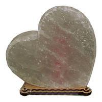 Солевой светильник сердце большое