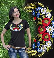 """Красива футболка вишиванка для жінок """"Колосок""""  42-56 рр"""