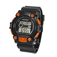 Спортивные часы с секундомером, будильником и неоновой подсветкой (∅45 мм) Honhx-Shok Orange