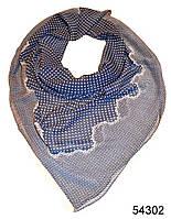 Платок шифоновый в горошек синий, фото 1