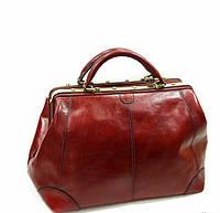 Саквояж кожаный красный КАТАНА 1152