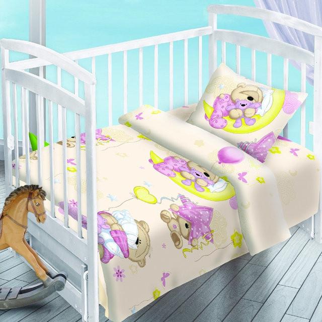 Сменный детский постельный комплект «Сонный медвежонок», Непоседа