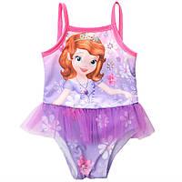 Детский модный купальник Принцесса фиолетовый