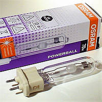 Металлогалогенная лампа OSRAM G12 HCI-T 70 Powerball 73Вт с теплым светом