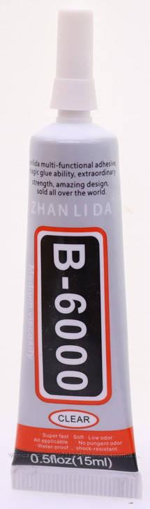 Клей силиконовый B6000 универсальный 15 мл, прозрачный