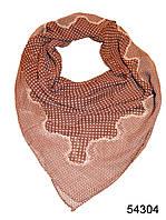 Купить платок шифоновый в горошек коричневый