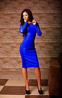 Женское нарядное платье экокожа