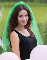Фата для девичника зеленая (10 цветов), фото 1