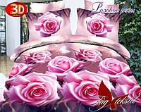 Комплект постельного белья Розовые розы с компаньоном 2 - спальный