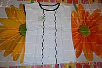 Джемпер белый, школьная блуза,р.68,72,76