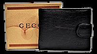 Качественный мужской кошелек GECCU черного цвета QAQ-000986