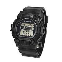 Спортивные часы с секундомером, будильником и неоновой подсветкой (∅45 мм) Honhx-Shok Black