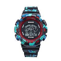 Спортивные часы с секундомером, будильником и неоновой подсветкой (∅45 мм) Rambo Red