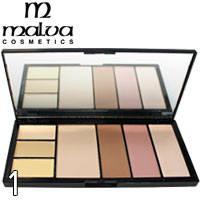 MALVA - Палитра для коррекции лица Professional Make-Up Palette M-470 Тон 01
