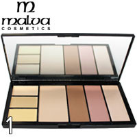 MALVA - Палитра для коррекции лица Professional Make-Up Palette M-470 Тон 01