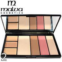 MALVA - Палитра для коррекции лица Professional Make-Up Palette M-470 Тон 02