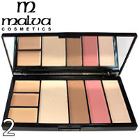 MALVA - Палитра для коррекции лица Professional Make-Up Palette M-470 Тон 02