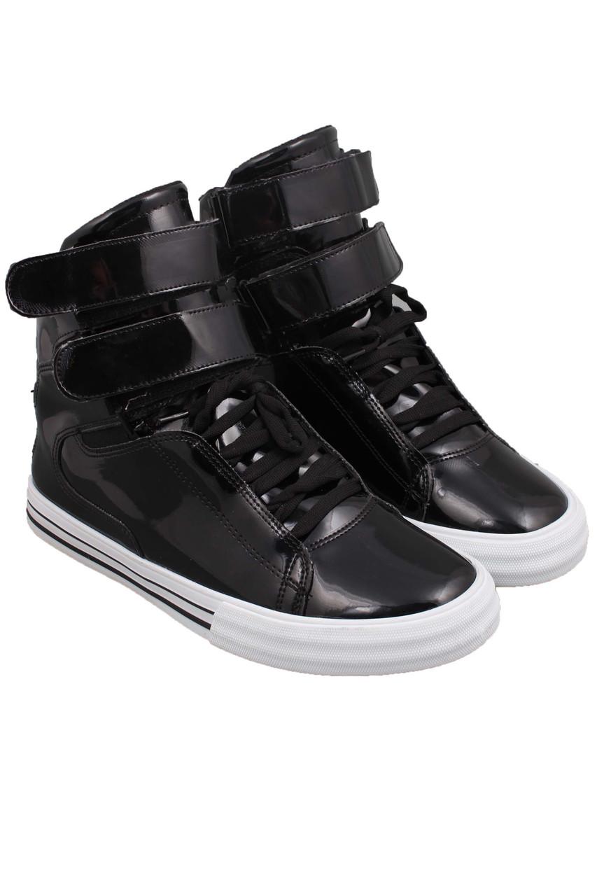 84aac163b3cf Кроссовки Supra Society черные на белой подошве -