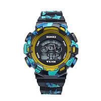 Спортивные часы с секундомером, будильником и неоновой подсветкой (∅45 мм) Rambo Green
