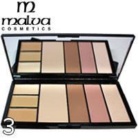 MALVA - Палитра для коррекции лица Professional Make-Up Palette M-470 Тон 03