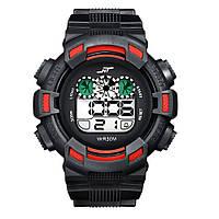 Спортивные часы с секундомером, будильником и неоновой подсветкой (∅45 мм) NT-Ranger Red