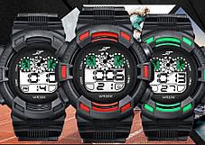 Спортивные часы с секундомером, будильником и неоновой подсветкой (∅45 мм) NT-Ranger Red, фото 2