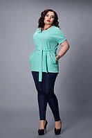 Блуза-туника мод 499-6 размер 48-50,52-54,56-58 бирюза