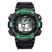 Спортивные часы с секундомером, будильником и неоновой подсветкой (∅45 мм) NT-Ranger Green