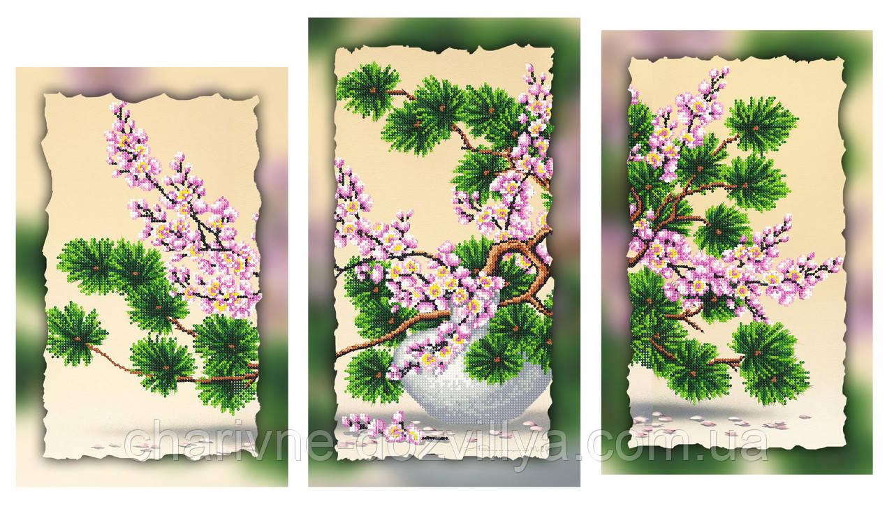 Триптих сакура схемы вышивки