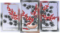 """Схема-триптих для вышивки бисером на подрамнике (модульная картина) """"Букет сакуры-1"""""""