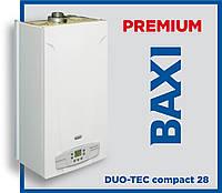 Газовый конденсационный котел BAXI DUO-TEC compact 28  (двухконтурный, премиум-класс)