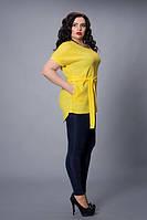 Блуза-туника мод 499-5 размер 48-50,52-54,56-58 желтая