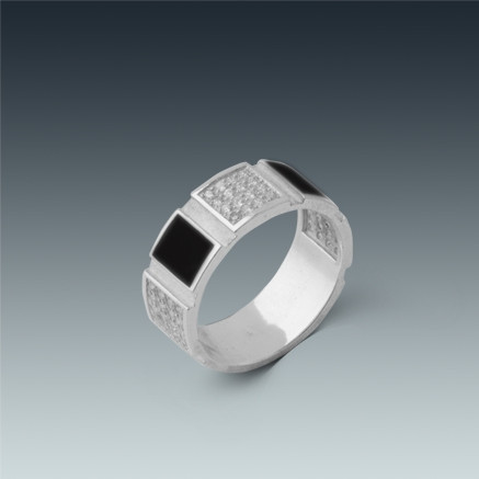 Мужское кольцо печатка - серебро 20 размер
