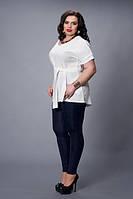 Блуза-туника мод 499-7 размер 48-50,52-54,56-58 белая