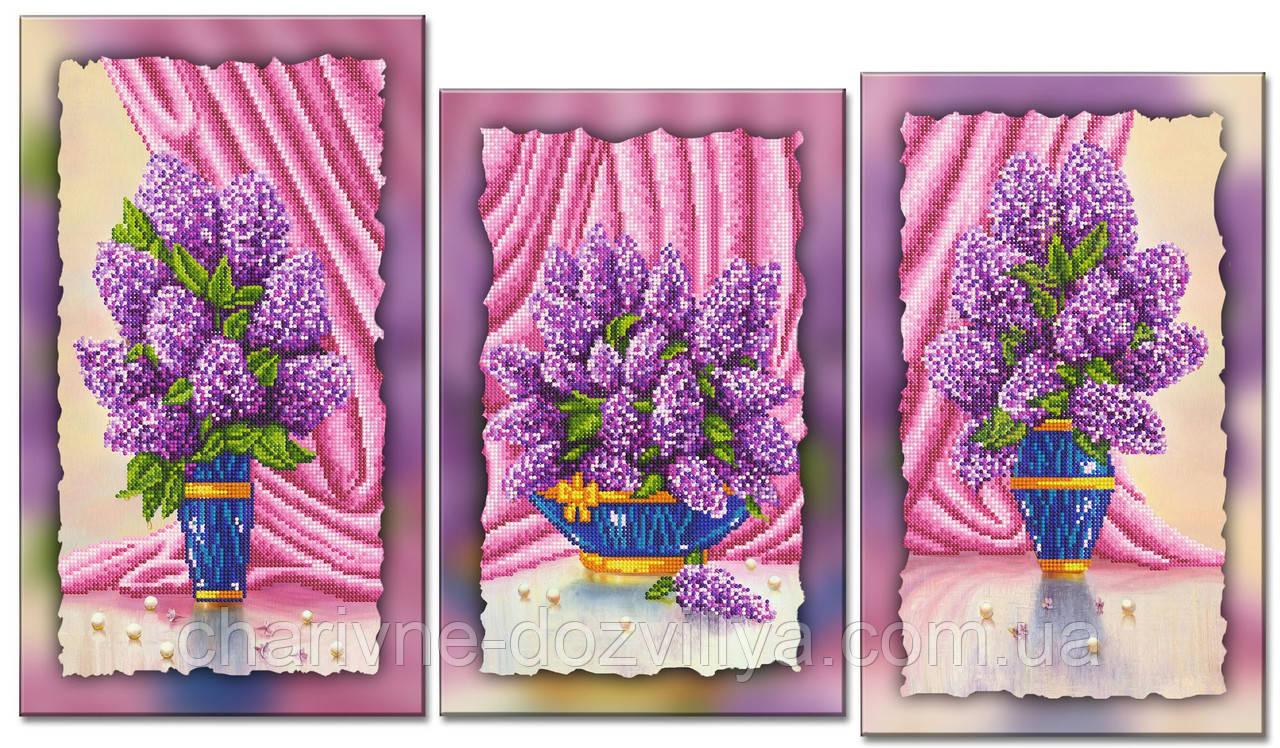 """Схема-триптих для вишивки бісером на підрамнику (модульна картина) """"Прекрасна лілія"""""""