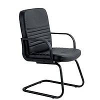Кресло конференционное Чинция CF кожа сплит черная