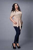 Блуза-туника мод 499-3 размер 48-50,52-54,56-58 капучино
