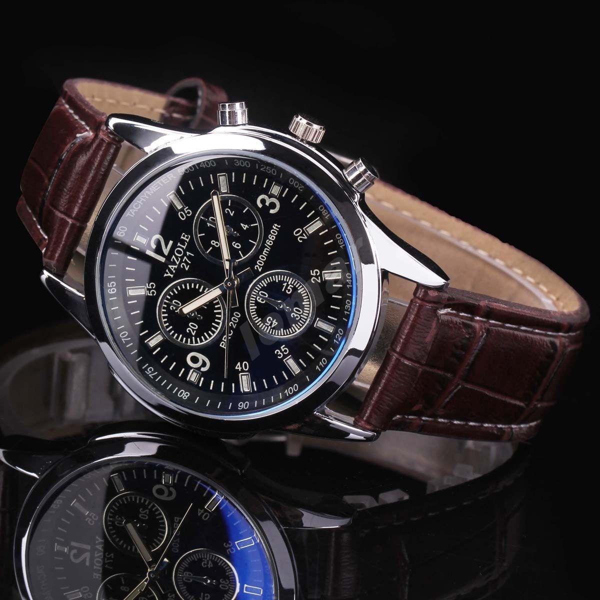 Мужские кварцевые часы Yazole Phantom blue mirror - lomarua в Украине a935e04214e