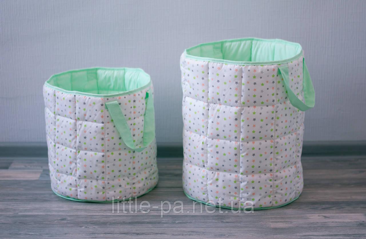 Мягкая большая корзина для детской комнаты «Фейерверк»