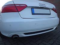 Диффузор (накладка) на задний бампер Audi A5 coupe S-line