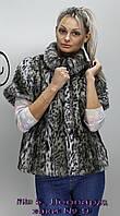 Женский жилет из меха. № 5, цвет: Леопард хаки № 9