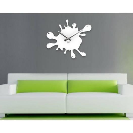 Большие Часы На Стену (49смх39см) Blot Белые [Акрил, Открытые]