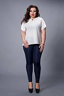 Блуза мод 500-7 размер 50,52,54,56,58 молочная