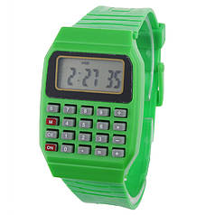 Наручний годинник з калькулятором Zentrum green