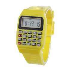 Наручний годинник з калькулятором Zentrum yellow